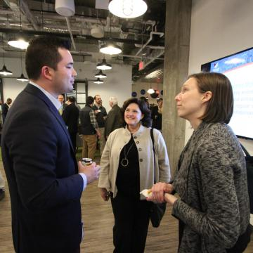 Guests socializing at Anchor Ventures first meeting