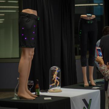 At Night Athletic (exhibitor) embeds LED lights in athletic wear so you can exercise safely at any time of day.