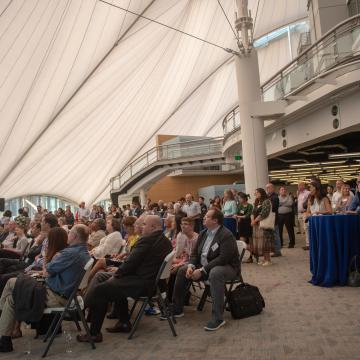 Attendees learned how Baltimore companies are bringing smart garments, technical textiles and wearables to market.